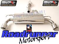 "Milltek Golf R32 MK4 Exhaust System 2.5"" Cat Back Resonated GT100 Tails SSXVW137"