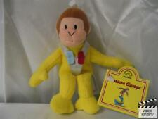 Curious George as Astronaut plush finger puppet; Applause NEW