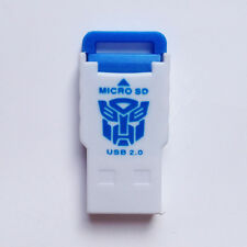 USB 2.0 MMC SD SDHC Memory Card Reader/Writer/Adapter 2/4/8/16/32/64GB Blue