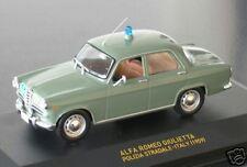 """wonderful Italian policecar ALFA ROMEO GIULIETTA """" POLIZIA"""" 1959 - green -  1/43"""