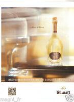 Publicité 2014 - Champagne RUINART
