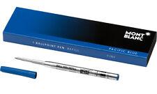 Mont Blanc Ballpoint Pacific Blue Fine Refills - 105155 - Set of 3