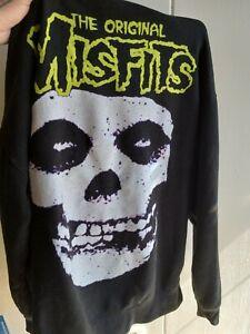 Misfits Hoodie Size M Punk Rock Original Misfits Band Sweater Medium Used