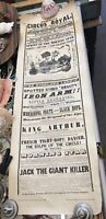 Antique 1800s Powell's Circus Royal Hammersmith  Advertising Poster Magician