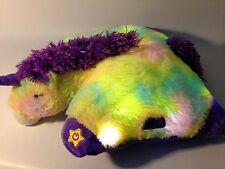 "Authentic LED Unicorn Rainbow Pillow Pets Glow Pets Large 17"" Toy"