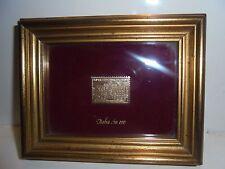 """QUADRO CON FRANCOBOLLO SERIE """"Italia in oro"""" RARO -Picture stamp italy gold"""