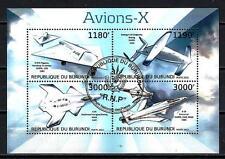 Avions Burundi (62) série complète de 4 timbres oblitérés