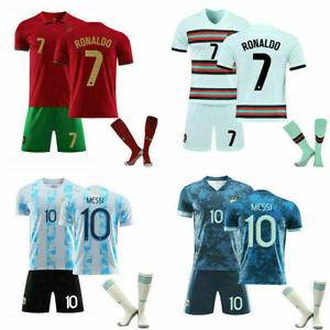 20-21-22 Kids Adults Football Full Kits Boys Soccer Training Suits Custom Jersey