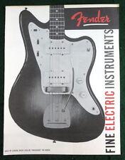 FENDER MUSICAL INSTRUMENTS 1959 PRODUCT BROCHURE CATALOG DOWNBEAT REPRINT NEW #2