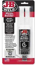 Jb Weld Plastic Weld Quick Setting Epoxy Syringe Bonder Repair Glue Black