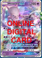 1X Mewtwo GX SM196 Pokemon Online TCG Card PTCGO Digital Card