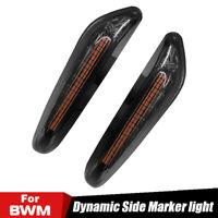 2x Dynamic LED Side Marker Turn Signal Light For BMW E90 E91 E92 E87 E88 E60 E61