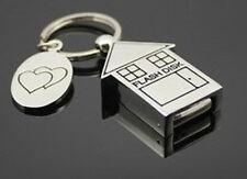 16 GB Memoria USB Casa Llavero 2 Corazón plata Colorido