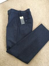 """Marks And Spencer Mens Wool Rich Slim Fit Trousers 26"""" Short Denim Blue BNWT"""
