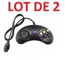 2 X Manette contrôleur pour Sega MegaDrive - Master System - Genesis - 6 boutons