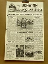 Vintage Schwinn Reporter Bicycle Dealer Newsletter April 1967 Twin Stik