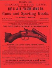 H & D 1889 Folsom Sporting Goods Catalog August