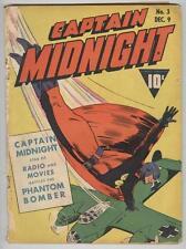 Captain Midnight #3 December 1942 G/VG War cover