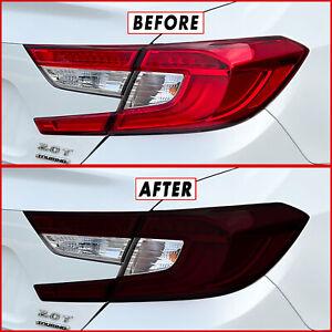 FOR 18-21 Honda Accord Tail Light Cutout & Reflector SMOKE Vinyl Tint Overlays