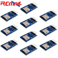 10pcs SD TF Memory Card Reader Module Slot Socket SPI Interface for Arduino