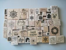 FREE SHIPPING You Pick Winter and Christmas Themed Rubber Stamps Free Shipping