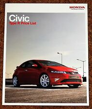 2008-09 HONDA CIVIC TYPE-R PRICE LIST - Totally Mint Condition