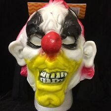 Halloween Evil Circus LATEX CLOWN HOODED MASK Cosplay Costume Accessory-RUBBER