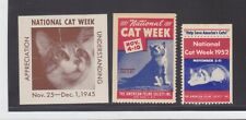 Vintage National Cat Week Poster Stamps Collection