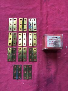 LOT OF 11 NOS VINTAGE SOLID BRASS BUTT HINGES 1 1/2 x 2 1/2 USA MADE 1930s 1940s
