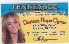 Twerk dancer Miley Cyrus Hannah Montana Rock Star Franklin Tn Drivers License
