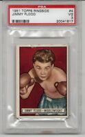 ~RARE~ 1951 Topps Ringside SETBREAK Jimmy Flood #4 GRADED PSA 3 VERY GOOD