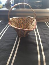 Old Antique Hand Woven Basket tight weave
