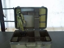 MILITARY SURPLUS STORAGE CONTAINER CASE  WITH STRAPS GEAR EQUIPMENT  US ARMY