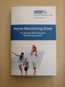 GlucoRx Record Monitoring Diary Logbook to Store Blood Glucose Diabetes Results