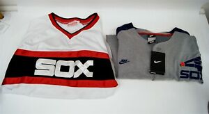 Lot of 2 Mitchell & Ness Nike Chicago White Sox Jerseys Fisk Quentin Size 2XL 54