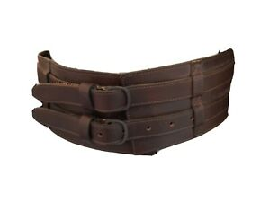 Genuine leather  Boho Wide Leather Festival Hippy Gypsy Belt, S, 31 inches