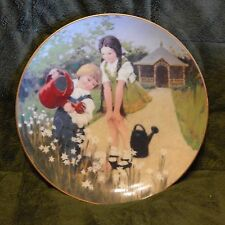 Wonders Of Childhood Plate Collection, March, Watering Daffodils