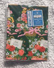 Vtg American Greetings Gift Wrap Sealed Bridal Shower 60's Floral 1 Giant Sheet