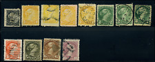 Canada #34-40 used F/XF 1870/1893 Queen Victoria Small Queen Selection CV$89.50
