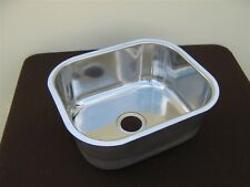 Pressed bowl stainless steel sink / hand basin flush mount BRAND NEW suit boat