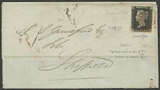 Gb #1 On Folded Letter With Red Cancel June 11,1840 Bs2644