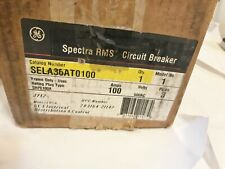 New In Box Ge Sela36at0100 100a Circuit Breaker 3p 600v Best Price Lugs Both End