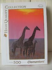 Clementoni Animals 500 Piece Family of Masai Giraffe at Sunset Jigsaw Puzzle New