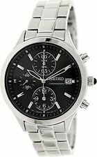 NWT Seiko Women's SNDX09 Black Dial Chronograph Watch