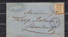 ALSACE  LORRAINE BUCHSWEILER - 10 ct N°5 SUR LETTRE DU 6-9-1871 Lettre Cover