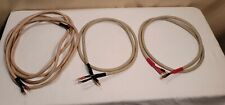 New listing 3 Monster Cable Powerline 2 Time Coherent Precision Speaker Cables 2 6' & 1 15'