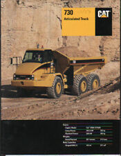 "Caterpillar ""730"" Articulated Dump Truck Brochure Leaflet"