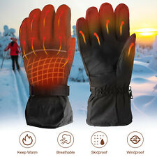Electric Battery Heated Glove Windproof Winter Heating Warmer Motorcycle Outdoor