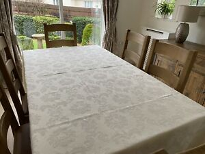 Large Cream Damask Tablecloth Table Cloth Party Wedding Damask Pattern Debenhams