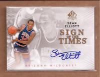 2012-13 SP Authentic Sign of the Times #SE Sean Elliott Auto - NM-MT